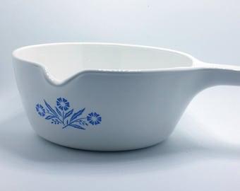2.5 cup sauce pan, Corning Cornflower blue, P-89-B, P89B