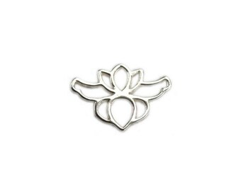 925 Solid Sterling Orchid Flower Charm, Floral Pendant, Connector, Amoracast Pendant, Amora Cast DIY Jewelry Supplies, Findings, Tools, Kit