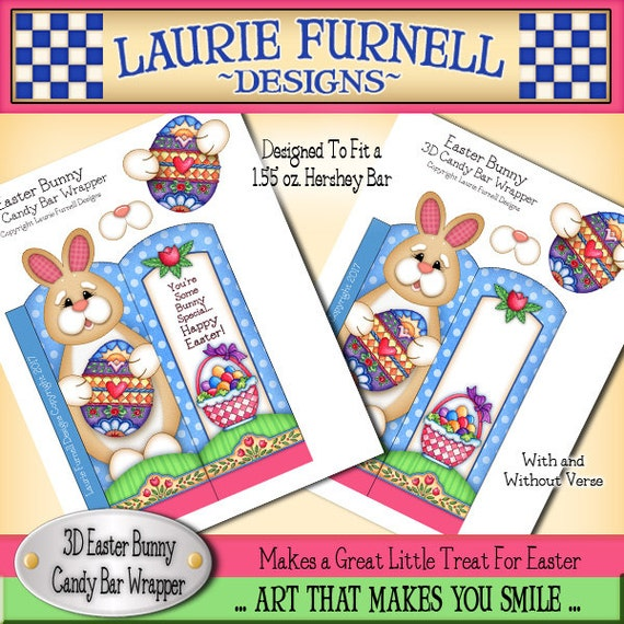 Easter Bunny Candy Bar Wrapper Laurie Furnell Bunny Wrapper