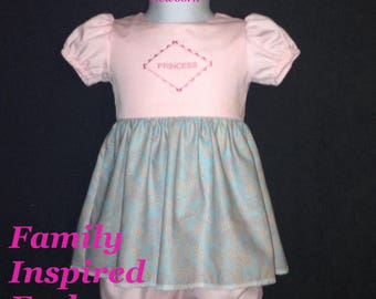 baby girl pink dress, take home outfit