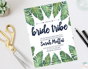 Bachelorette Party Invitations DIY Set (printable) - Bride Tribe - Bridal Shower