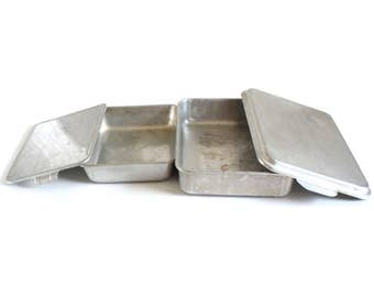 Mirro Take A Cake Pan 13 x 9 with Lift-off Cover, or Unmarked Sliding Lid 10 x 8