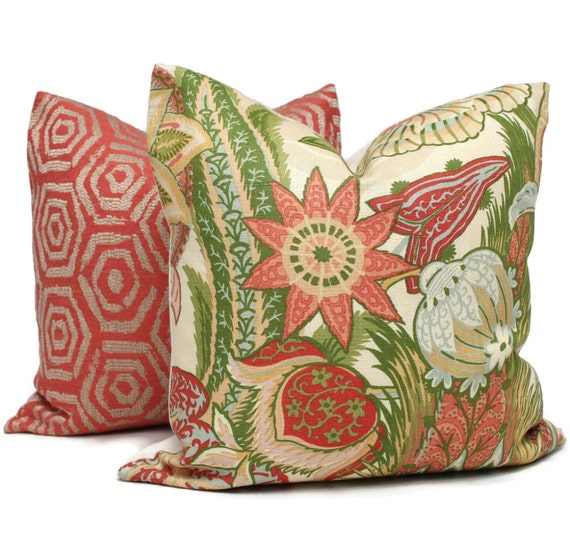 Zanzibar Throw Pillows : Zanzibar Blush Decorative Pillow Cover 18x18 20x20 22x22