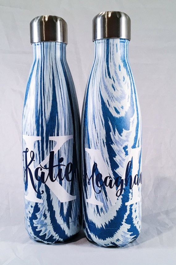 Custom Big Initial and Name S'well Bottle - Bridesmaids, Yoga, Teacher, Sorority, Personalized Swell, Custom Swell, Swell Bottle