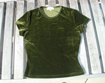 Green velvet t-shirt