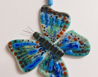 Butterfly Fused Glass Ornament