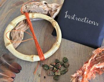 Rustic Dream Catcher kits , unakite gemstone nuggets