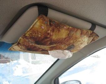 Car Visor Tissue Holder - Squirrels and fox - ready to ship