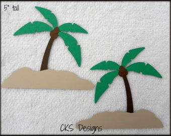 Die Cut Palm Trees for Beach, Luau, or Party Scrapbook Page Embellishments for Card Making Scrapbook or Paper Crafts
