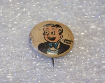 Harold Teen 1940s Collectible Kellogg Pin