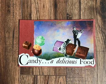 Candy, Collage Art, 1940s Add, Collage, Delicious Candy