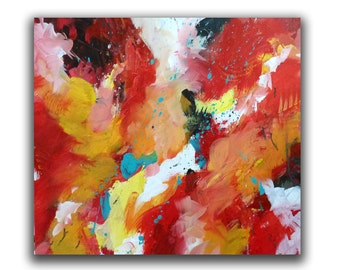 "Original Acrylic Abstract Painting, 16x20 Gallery Wrap titled ""Gabriel"", Contemporary Christian Art"