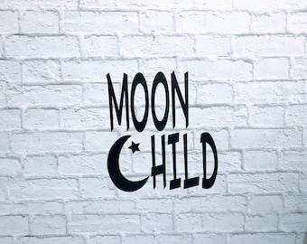Moon Child Vinyl Decal