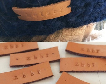 Personalized Leather Tag | Add-On for Thermal Knit Wool Headbands