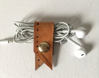 Leather Cord Keeper - Repurposed