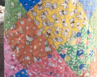 Patchwork Baby Quilt 1930's Reproduction Fabrics