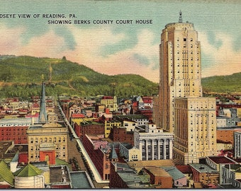 Reading, Pennsylvania, Berks County, Court House - Vintage Postcard - Linen Postcard - Unused (LLL)