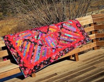 Scarlet Fever-- A Kaffe Fassett Inspired Quilt design made of all Kaffe Collective Fabrics