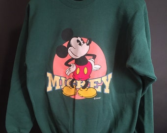 Vintage Nineties 1990s Mickey Mouse Crewneck Sweatshirt - Walt Disney - (Size L)