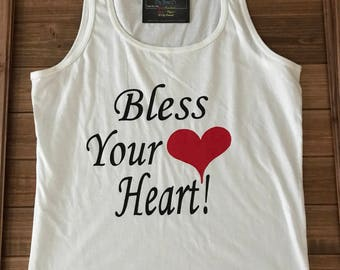 CLEARANCE  Bless Your Heart Tank Top