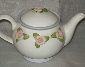 Teleflora Rose Flowered Teapot