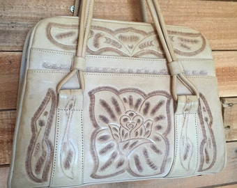 Vintage Hand tooled leather purse