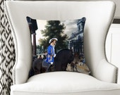 Portuguese Podengo Art Pillow Case Throw Pillow - The Searchers Movie Poster New Collection by Nobility Dogs