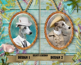 Whippet - Jewelry - Pendant - Brooch – Dog Jewelry – Dog Pendant – Dog Brooch - Dog Custom Jewelry By Nobility Dogs