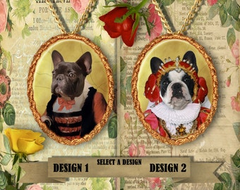 French Bulldog Jewelry/French Bulldog Pendant or Brooch/French Bulldog Portrait/Custom Dog Jewelry by Nobility Dogs