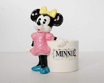 Minnie Mouse Pencil Holder, Ceramic Minnie Mouse Desk Storage