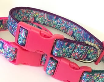 Exotic Escapade Lilly Pulitzer Inspired Pet Collar / Lilly Inspired Pet Accessories in Exotic Escapade