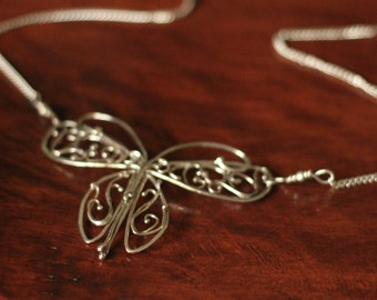 Filigree Butterfly in Sterling Silver