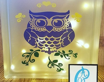 owl , purple, mothers day gift, home decor, nightlight, light block,