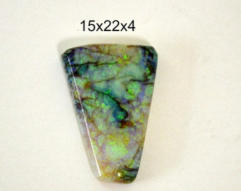Sterling Opal cabochon. 15 x 22 x 4 mm  gorgeous sparkle