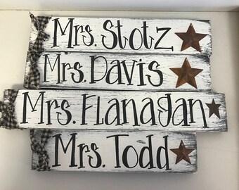 Teacher name sign primitive