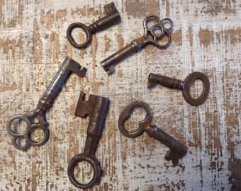 Vintage skelton keys