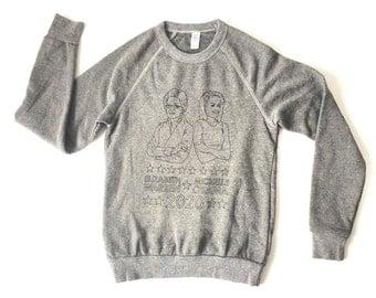 Michelle OBAMA Elizabeth WARREN 2020 the future Sweatshirt heather grey - xs, small, medium, large, and extra large - ACLU fundraiser shirt