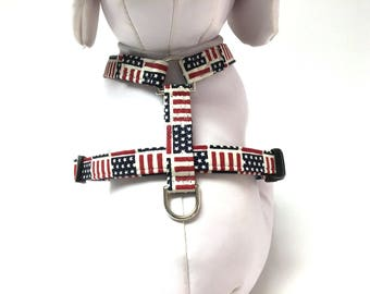 Dog Harness- The Stars and Stripes