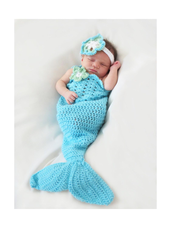 Mermaid Tail Crochet Pattern Newborn to 5T Mermaid Photo