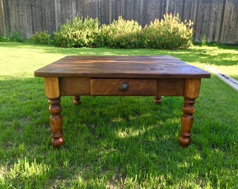 "The ""Petite"" Plantation Coffee Table - Handmade with Reclaimed Wood by Arcadian Cottage"