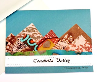 Custom Order Cards, Original Textile Fiber Mountain Blank Greeting Card, Unique Handmade Stationery itsyourcountry