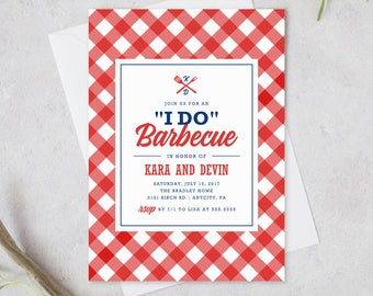 Printable I Do Barbeque, Couples Shower, Rehearsal Dinner, Engagement Party