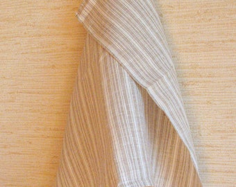 Linen Gray Dish Towels striped Washed Linen Tea Towels set of 2