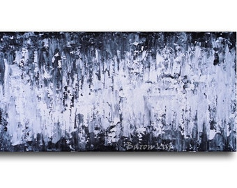 abstract painting acrylic painting art painting black white wall art canvas home office interior bedroom decor modern Acrylic custom Visi