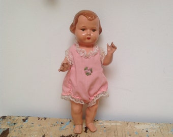 Vintage celluloid doll, made in Czechoslovakia