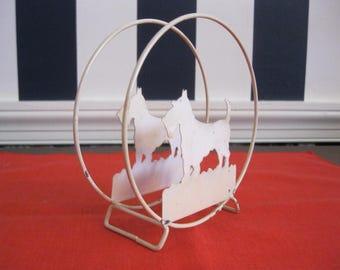 Scottie themed wire napkin holder