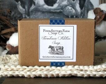 Farmhouse, Farmhouse Gift, Kitchen Soap, Farmhouse Kitchen Soap, Lemon Eucalyptus Soap, Lemon Peel Soap, Farmhouse Soap