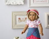 "Vivienne 18"" Doll Skirt & Blouse PDF Pattern Tutorial,  Ebook, Epattern, Sizes 18"" Doll - American Girl Doll"