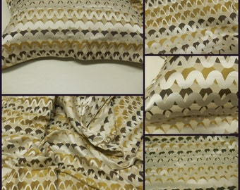 """Kravet Couture - Kravet Couture-Ripple Effect- Shitake-Luxury Fabric- pc- 50w x 84"""" Long-Upholstery - Silk -Linen"""