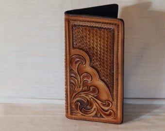 Handmade Roper Wallet /  Checkbook Cover